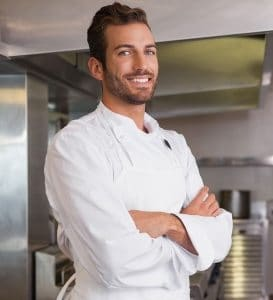 Private Chef in work at a kitchen